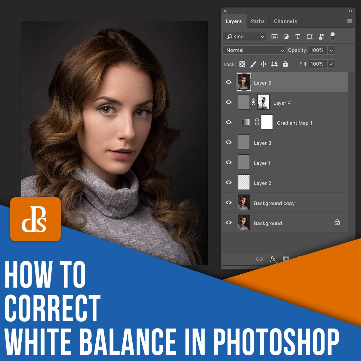 how to correct white balance in Photoshop