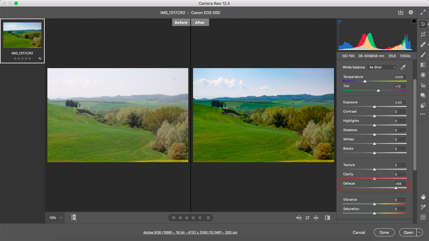How to remove glare in Photoshop using ACR