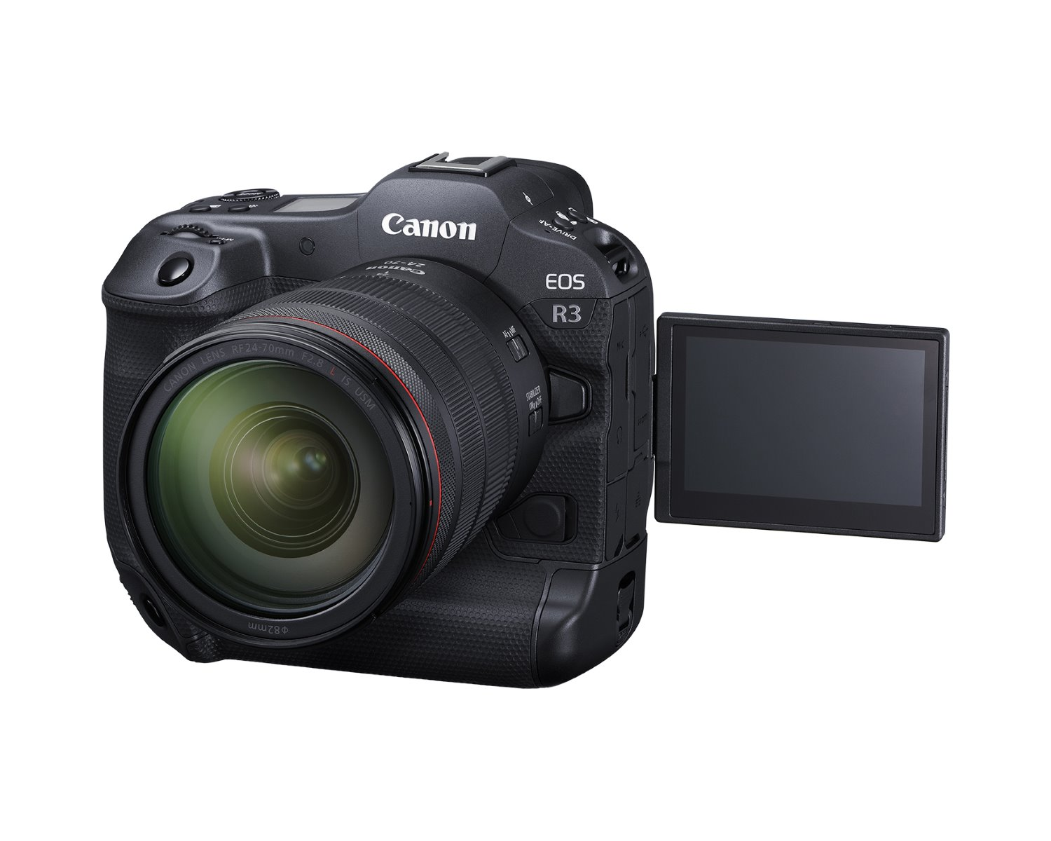 Canon EOS R3 with a fully articulating screen