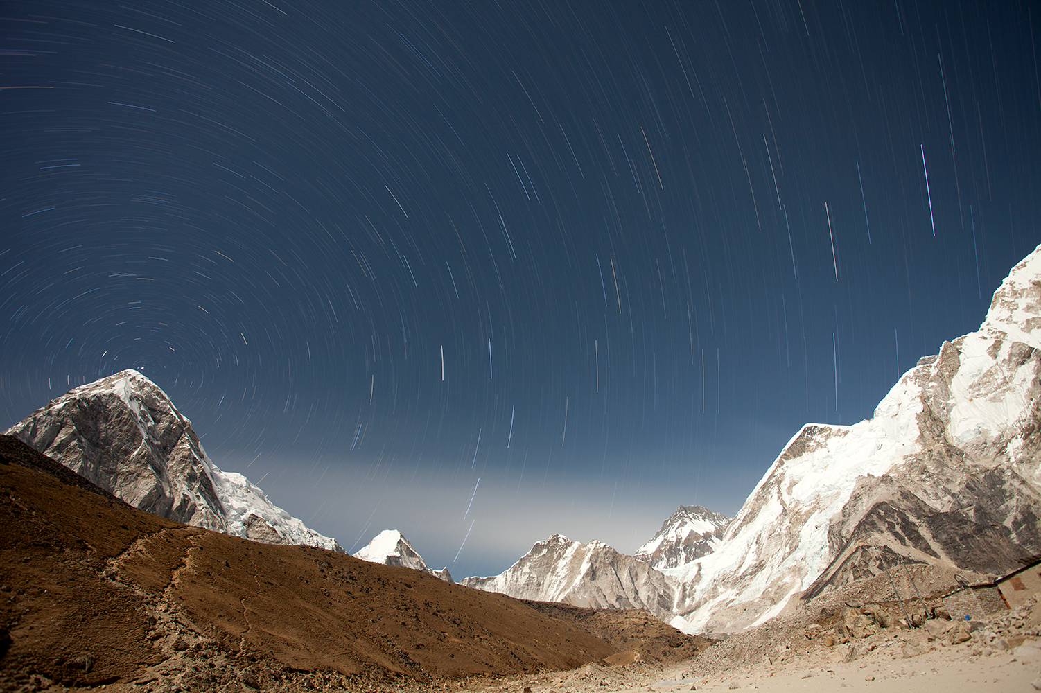astrophotography with star trails