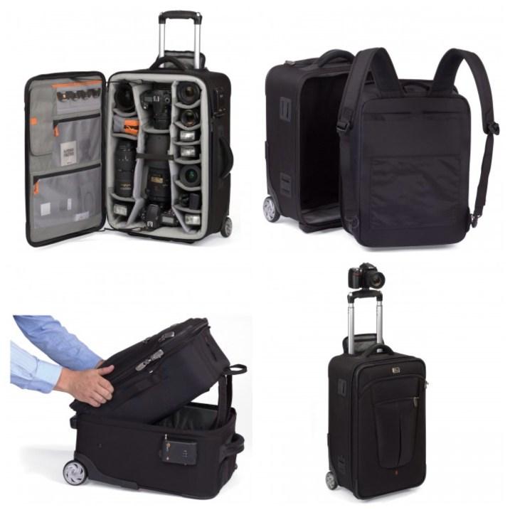 Roller bag style camera bag