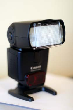 canon speedlight flash diffuser out