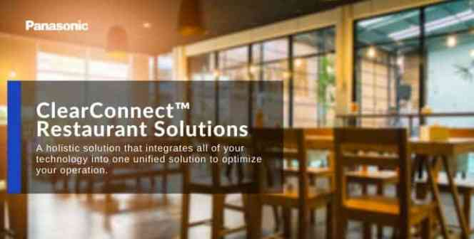 Clear Connect Panasonic Restaurant Solution
