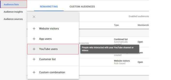 Youtube Retargeting - Steps