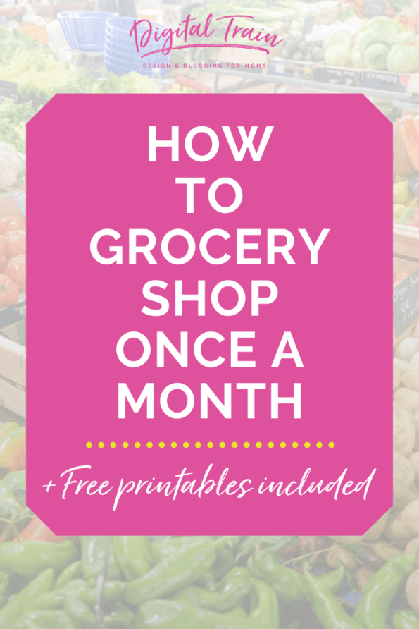 How To Grocery Shop Once A Month Free Printables Pinterest Digital Train