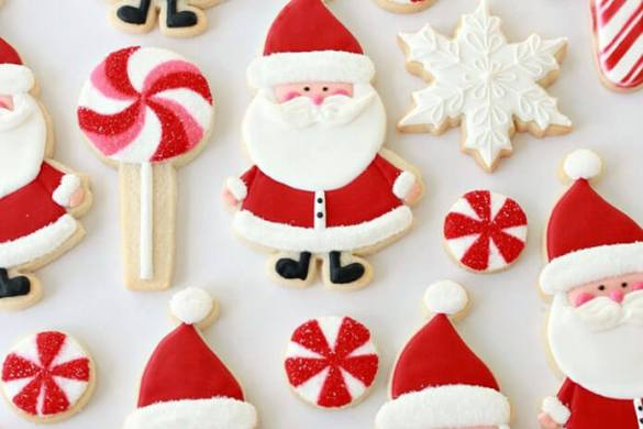 100. Candy Cane Sugar Cookie Recipe And Santa Christmas Recipe