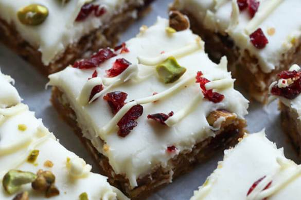 30. Cranberry Pistachio Bars Christmas Recipe