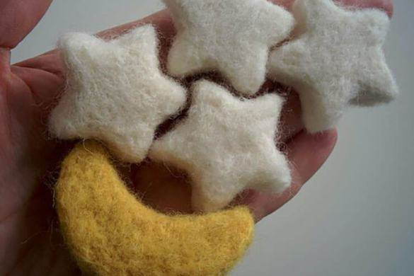 52.newborn Felt Moon And Stars