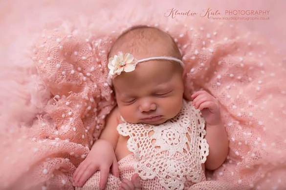 69. Newborn Romper And Headband Set