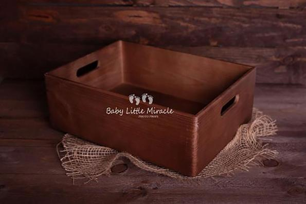 89.newborn Wooden Box Prop