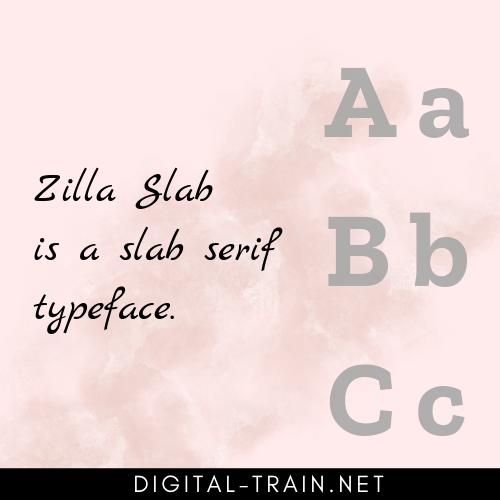 slab serif typeface