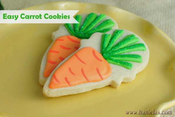 12. Carrot Decorated Easter Cookies