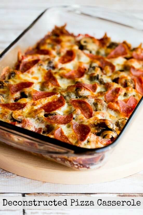 14. Low Carb (and Gluten Free) Deconstructed Pizza Casserole!