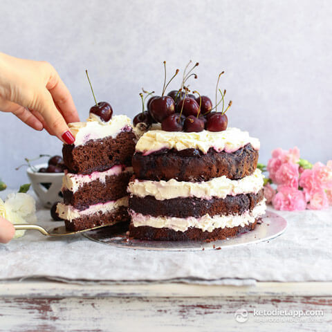 20. Keto Low Carb Black Forest Chocolate Cake