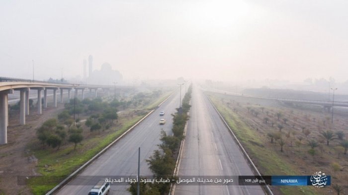 An still off Mosul from and Islamic State media release Dec. 21