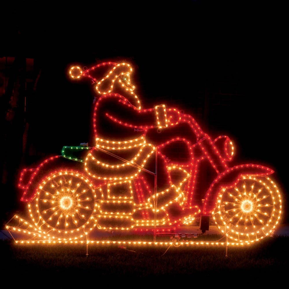 The Animated Santa Motorcycle Hammacher Schlemmer