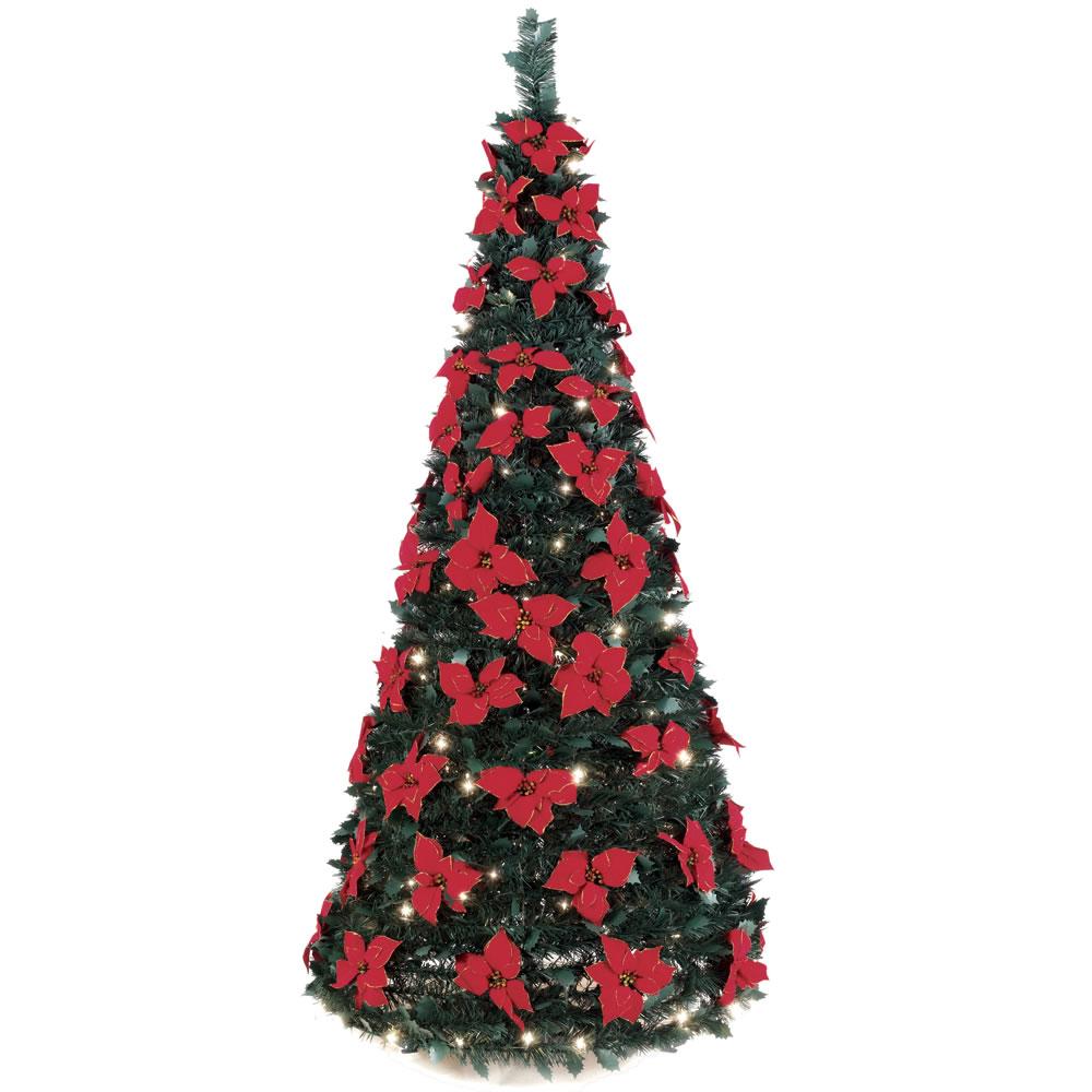 The 6 Pop Up Poinsettia Tree Hammacher Schlemmer