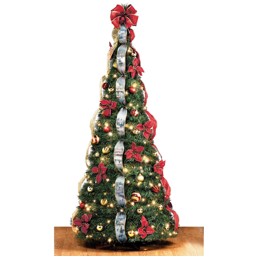 The Thomas Kinkade Pop Up 6 Foot Christmas Tree