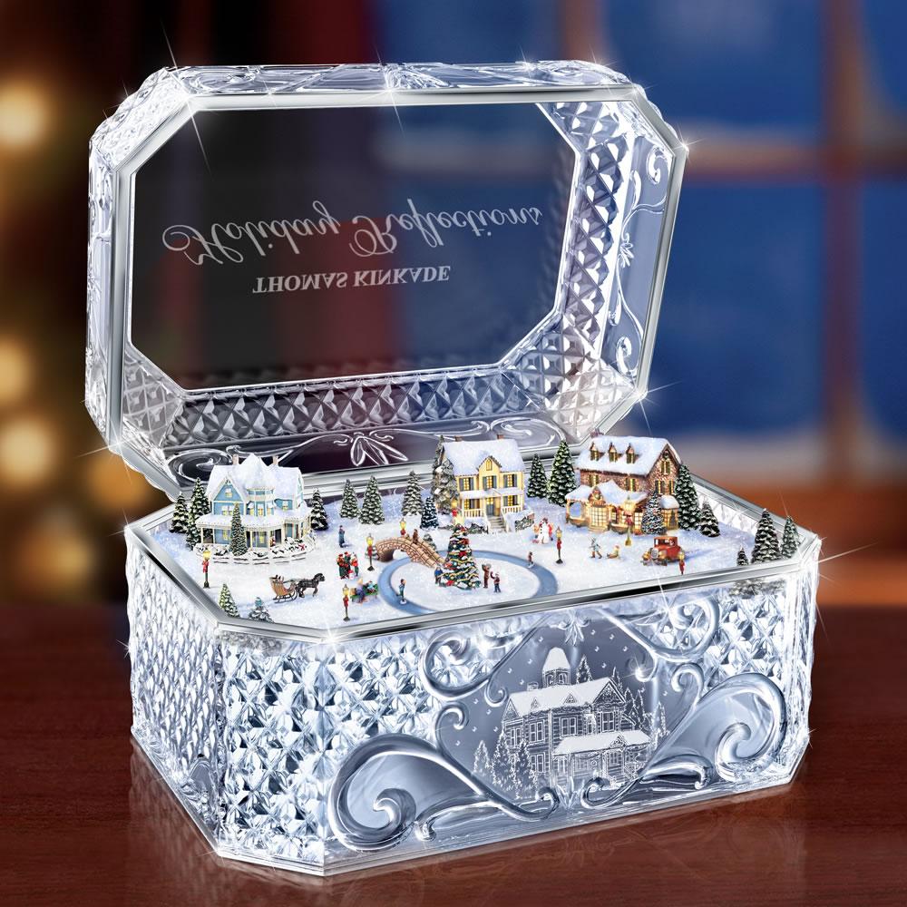 The Thomas Kinkade Crystal Music Box Hammacher Schlemmer