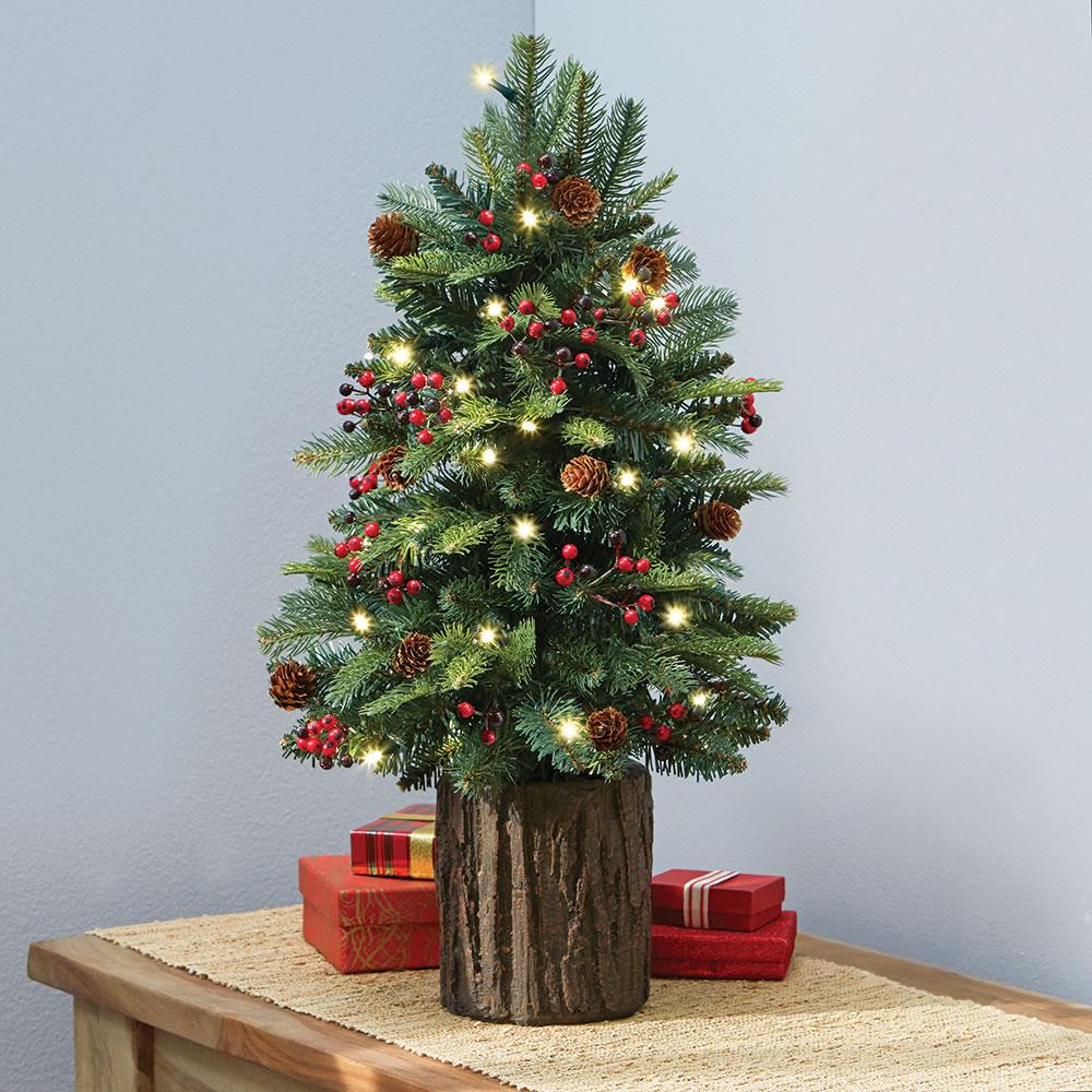 The Tabletop Prelit Christmas Tree Hammacher Schlemmer