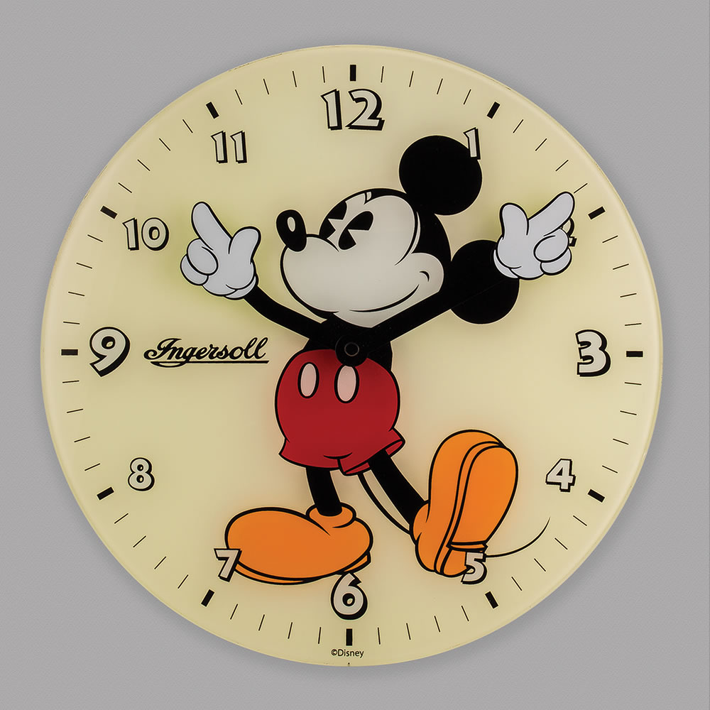 The Classic Mickey Mouse Wall Clock Hammacher Schlemmer
