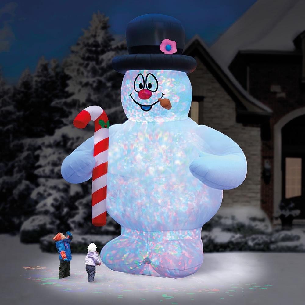 The 18 Frosty The Snowman Lightshow Hammacher Schlemmer