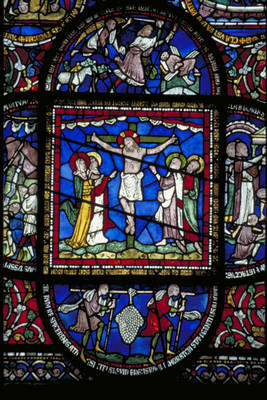Canterbury Cathedral Detail Of Redemption Window Corona