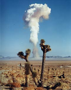 Nuclear test at Nevada Test Site