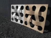 Aus Biegesperrholz gefertigte Geflechte