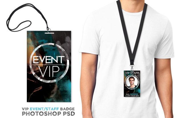 Badge PSD Template VIP All Access Pass