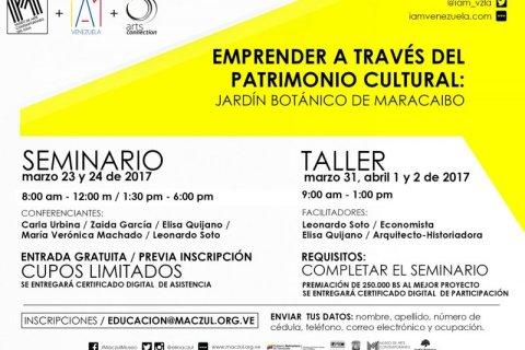 Seminario «Emprender a través del Patrimonio Cultural: Jardín Botánico de Maracaibo»