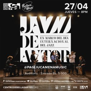 CBAAM celebra el Día Internacional del Jazz junto al dúo Pagliuca-Mena