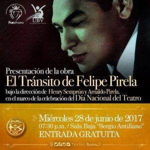 «El Tránsito de Felipe Pirela»: boleros y nostalgia en la celebración del Día Nacional del Teatro