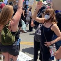 Mimí Lazo es criticada en las redes por protestar en EE.UU