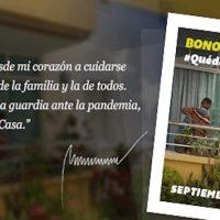 Comenzó asignación del bono «Quédate en Casa» correspondiente a septiembre