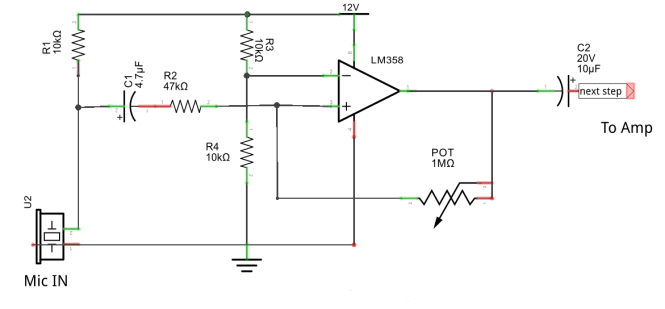 Microphone pre amplifier using LM358 - Digital Lab