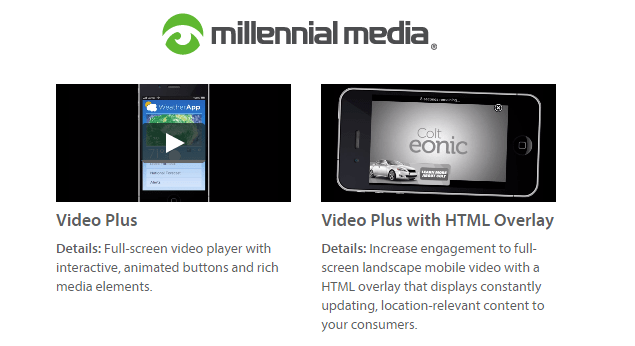 Millenial Media Mobile Video Overlay
