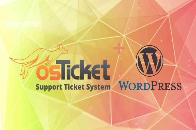Integration of osTicket with WordPress Website