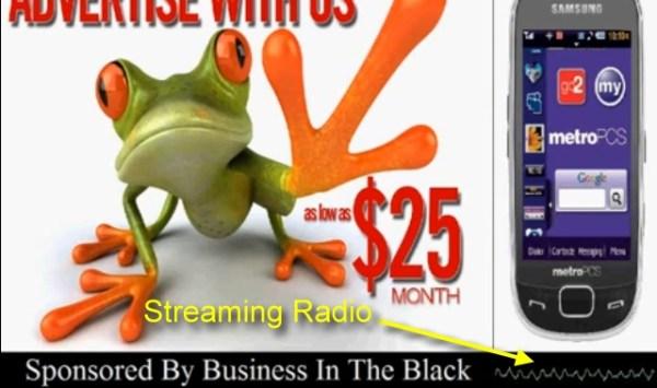 Digital Billboard with Streaming Radio Channels