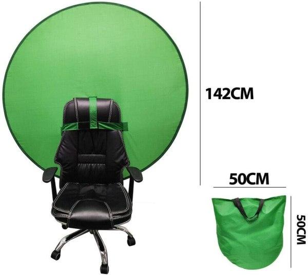 2021 Portable Webcam Green Screen Background