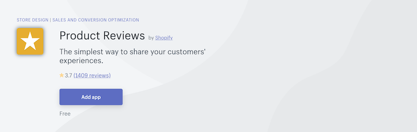 shopify product reviews