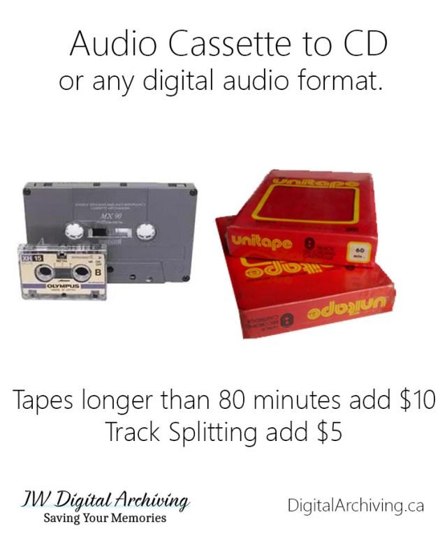Audio Cassette to CD Regina