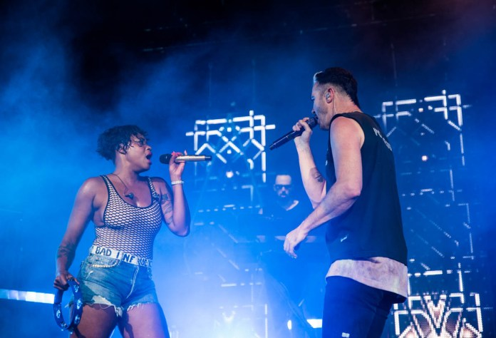 Fitz and the Tantrums energize the crowd at Ruoff Home Mortgage Music Center in Noblesville, IN. | 06-16-19 | Photo by: ©Pix Meyers 2019