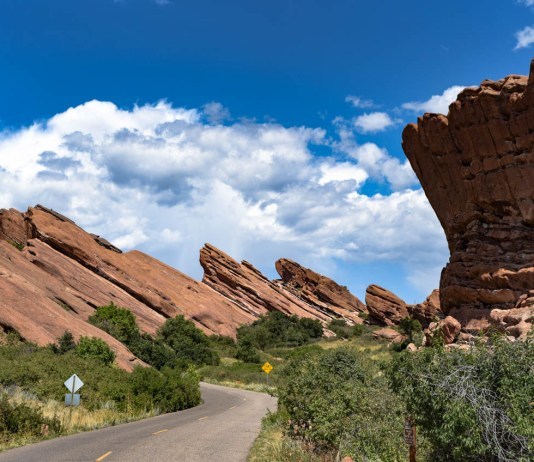 Road leading to Red Rocks   Morrison, CO.   09/05/19   Photo: ©Pix Meyers 2019