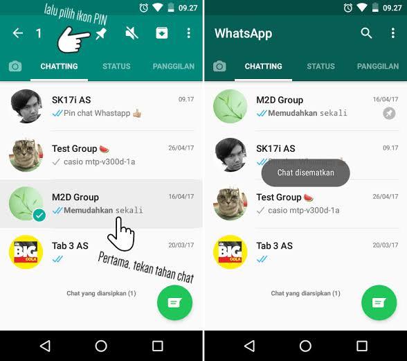 Cara Mudah Menyematkan Chat Pada Aplikasi Whatsapp
