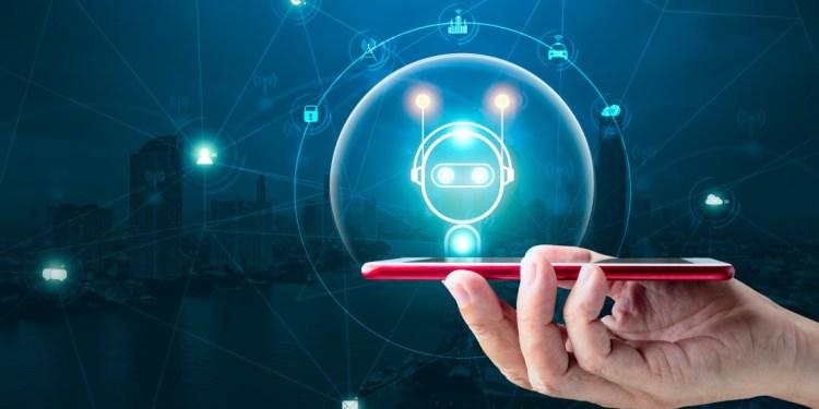ai ai - ai innovation and technology concept hand holding smartphone with digital chatbot on top for provide t20 rLRjdz - Apa Itu Teknologi AI