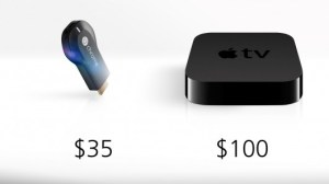 ChromeCast vs Apple TV.