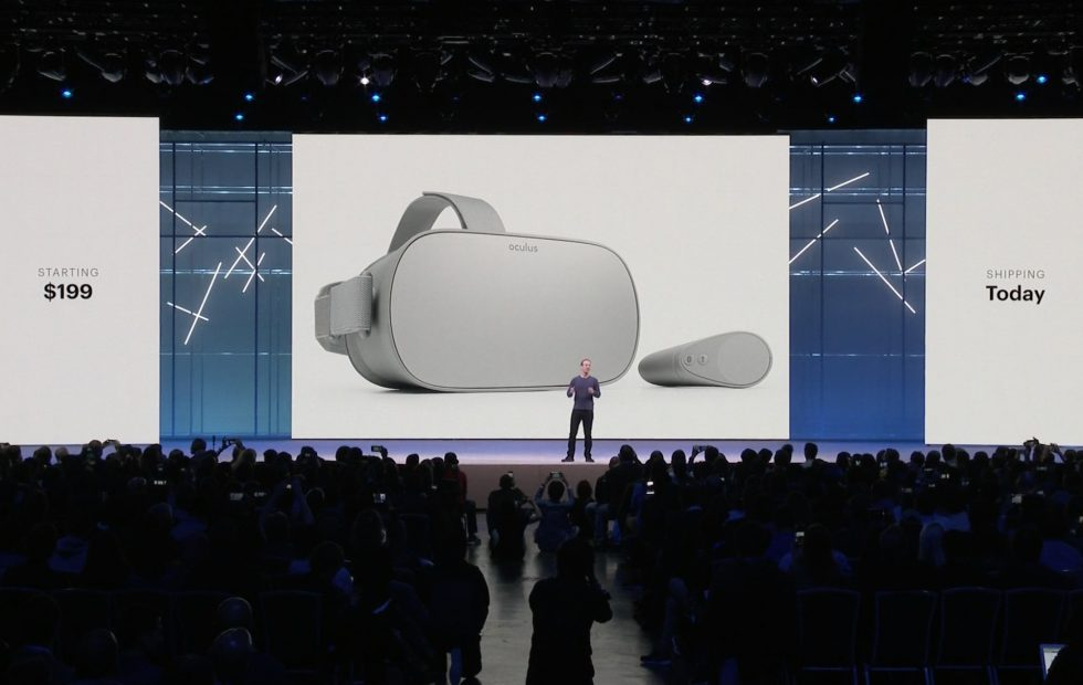 Oculus Go VR Facebook's F8 Developer Conference