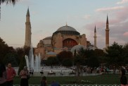 Blue Mosque at sunset. Istanbul.