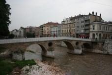 The bridge where WWI started. Sarajevo.